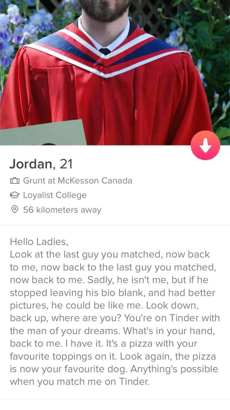 Jordan's Bio Idea for guys