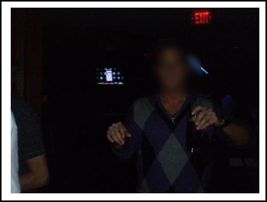 Guy in a dark photo - bad example