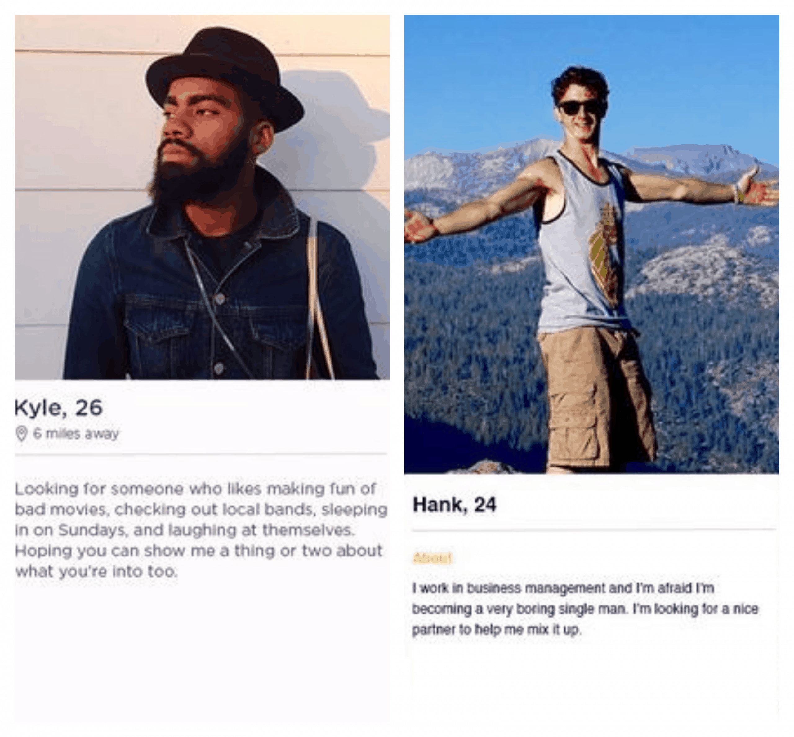 Tinder profile example