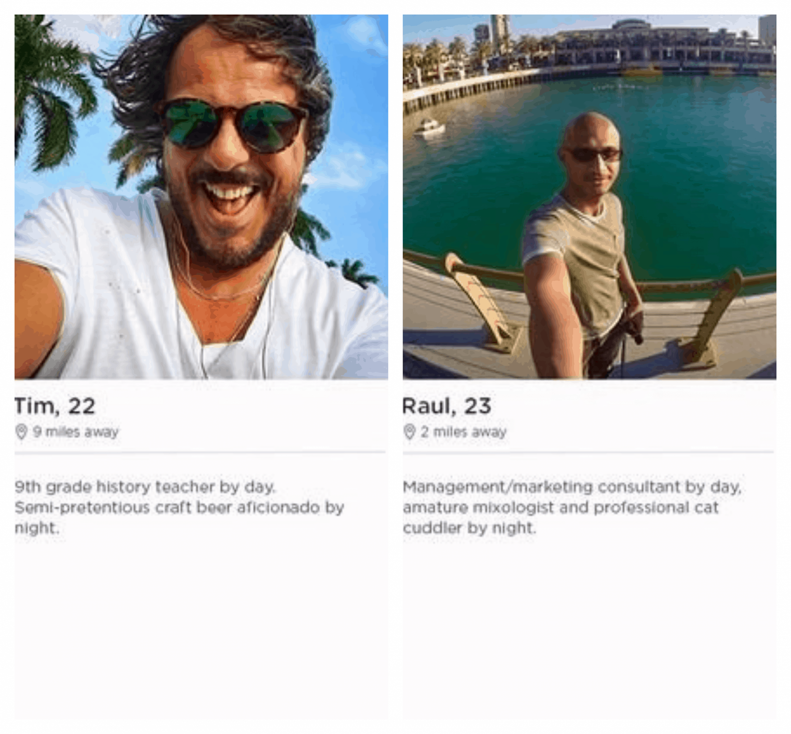 Tinder profile example for men