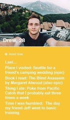 Tinder profile for men