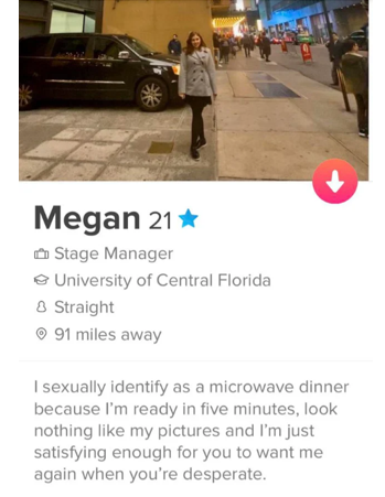 Funny Tinder bio during the Coronavirus quarantine