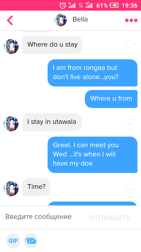 conversation with his match