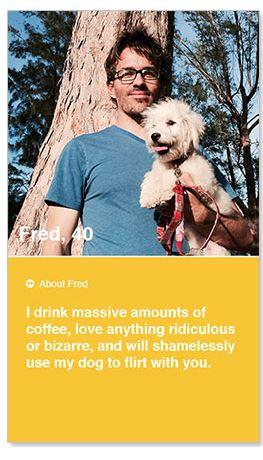 guy with dog - Bumble Profile Example