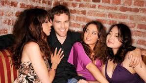 guy with three girls - profile picture example