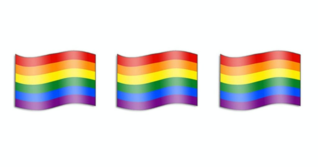 The Tinder Rainbow Emoji is used a lot by the LGBTQ community.