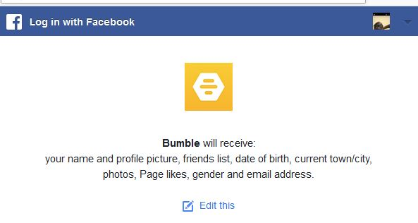 Bumble connects to Facebook and therefore one can identify a profile from there.