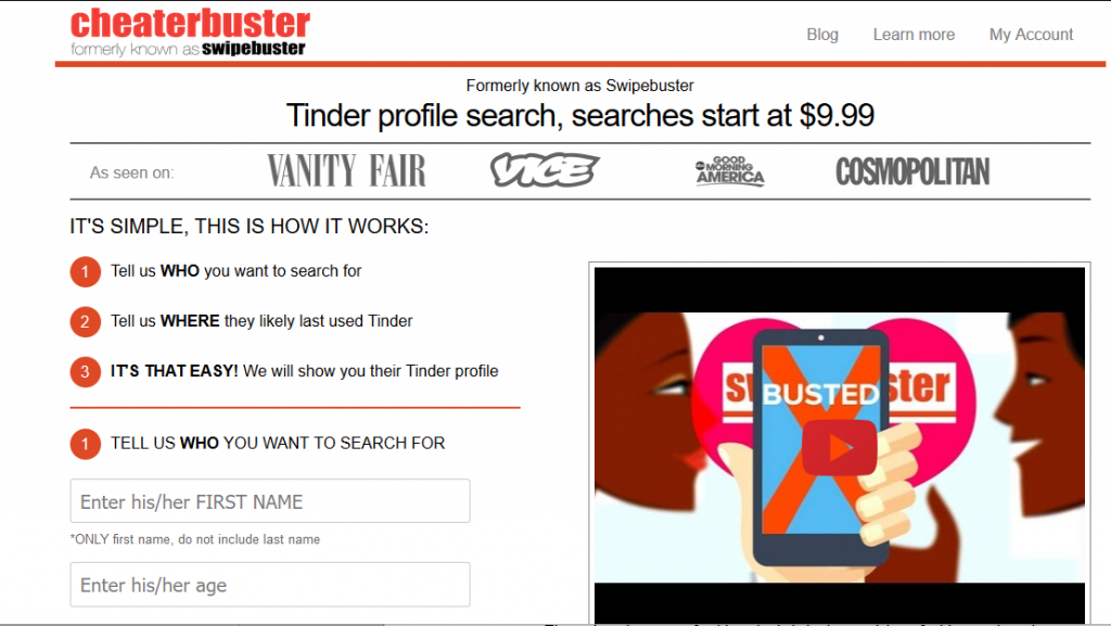 Use Cheater Buster to find a Bumble profile.