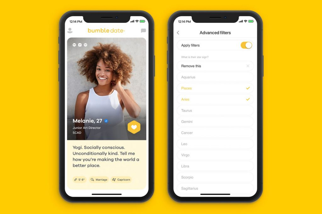 It is possible to search for profiles on Bumble.