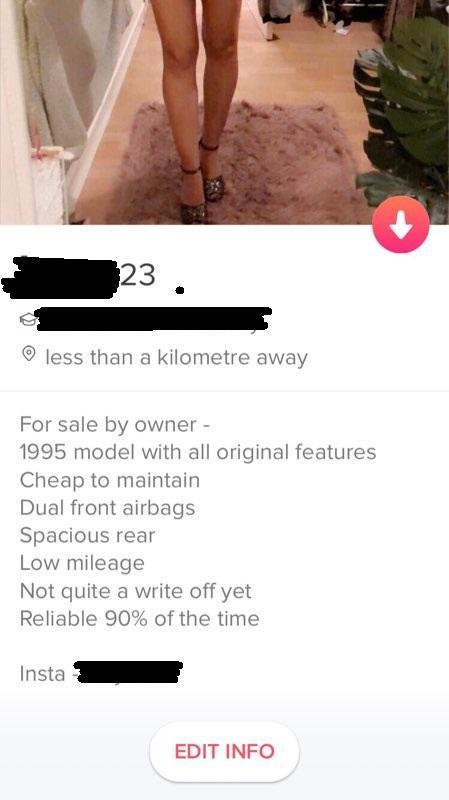 Creative Tinder bio