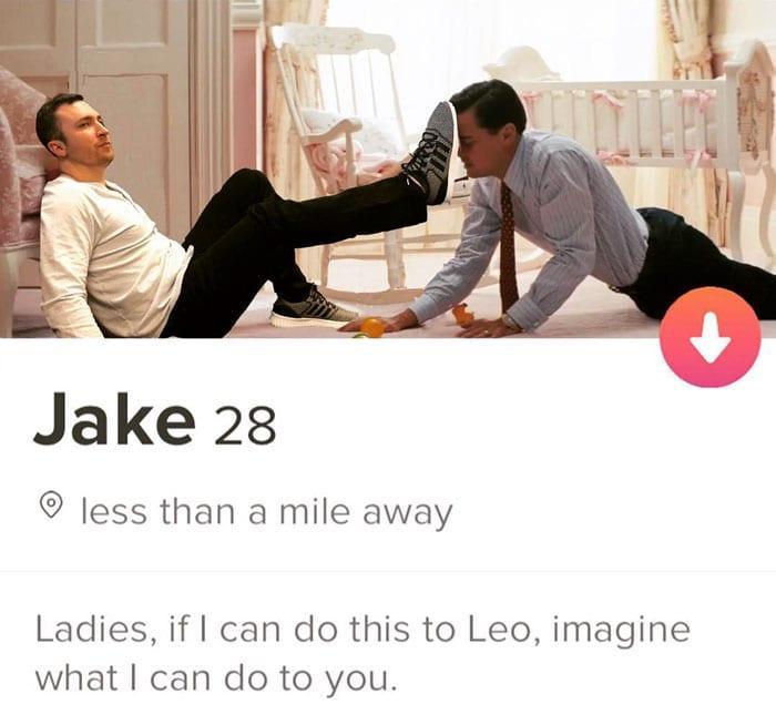 Jake's funny Tinder Bio