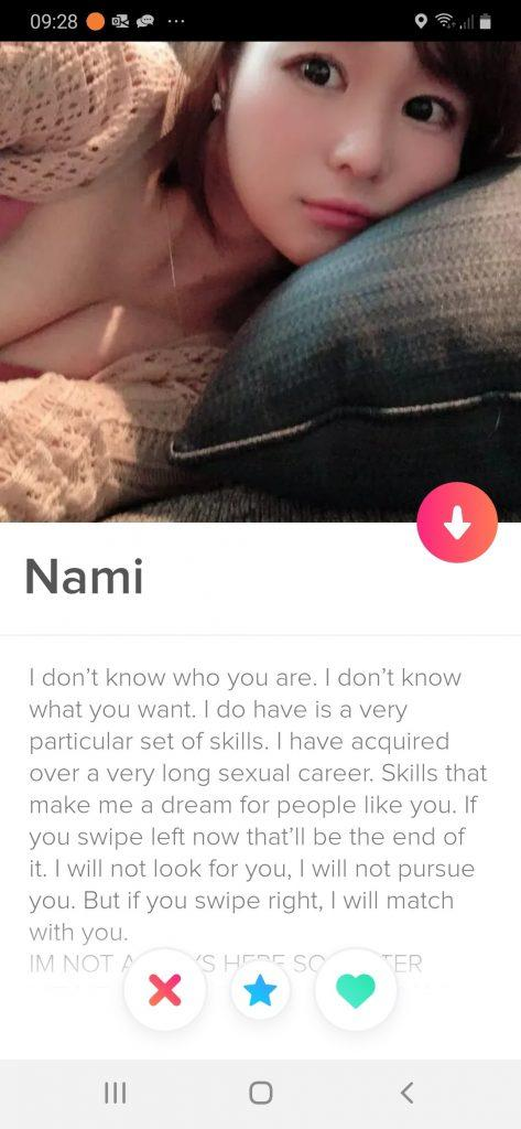 Tinder bio for girls